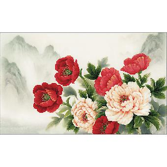 Oriental Bouquet Counted Cross Stitch Kit-19.75