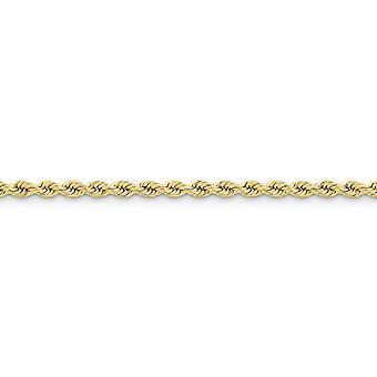 14 k gule gull Solid hummer Claw nedleggelse 4mm håndlaget vanlige tau kjeden armbånd - hummer klo - lengde: 7-9