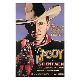 Tysta män filmaffisch (11 x 17)
