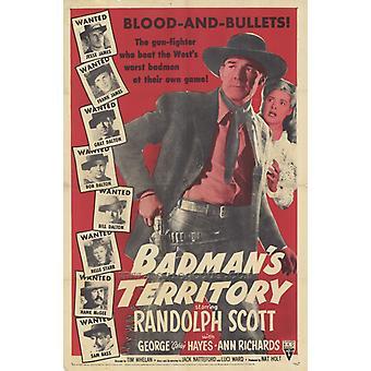 Badmans Territory Movie Poster Print (27 x 40)
