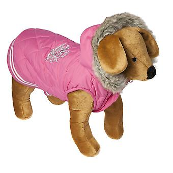 Doggy Things Waffle Coat Pink Extra Small 30cm