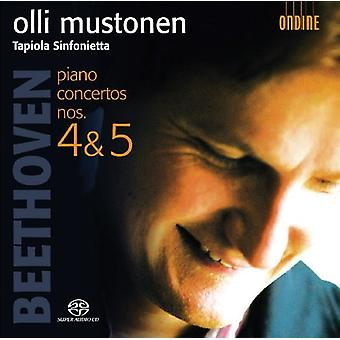 Larsen Beethoven - Beethoven: Klaver koncerter nr. 4 & 5 [SACD] USA import