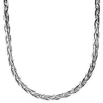 Iced out bling SLIM BASKET chain - 4mm silver