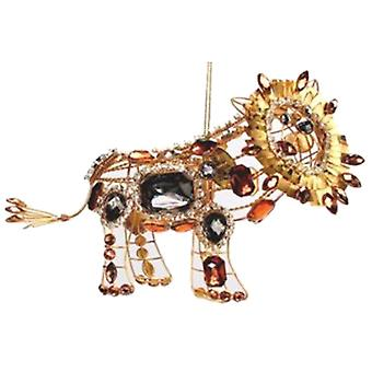 Safari Lion Animal Baguette Jewelled Holiday Ornament Katherine's Collection