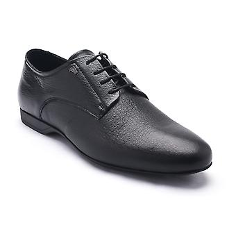 Versace collectie mannen lederen Oxford Lace-Up Dress schoenen zwart