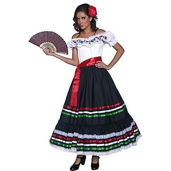 Smiffys Authentic Western Sexy Senorita Costume With Dress And Sash (Kostüme)