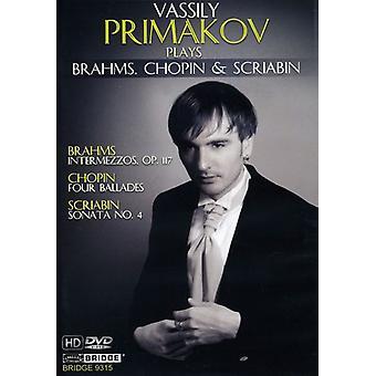 Primakov spiller Brahms Chopin & Skrjabin [DVD] USA importerer