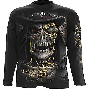 Spiral - STEAM PUNK REAPER - Long Sleeve T-Shirt, Black