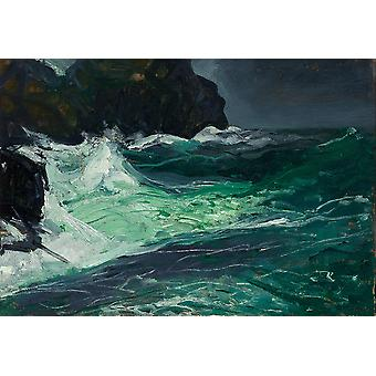 George Bellows - Storm Sea (1913) Poster Print Giclee