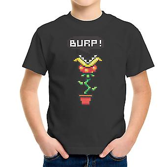 Burp Super Mario Piranha Plant Kid's T-Shirt