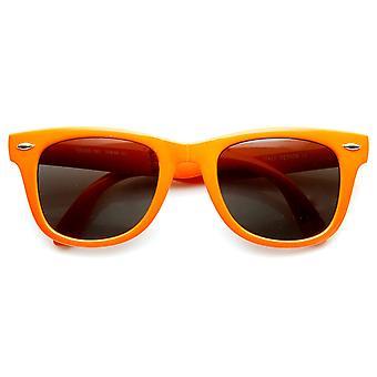 Jasny Neon kolorowe kompaktowy składany kieszeni róg oprawkach okularów przeciwsłonecznych 50mm