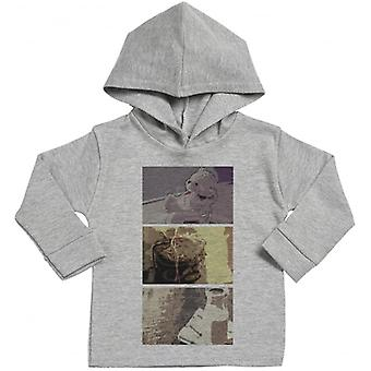 Spoilt Rotten Baby Squares Print Cotton Hoodie
