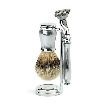 Edwin Jagger Gillette Mach 3 Shaving Set Chatsworth Barley 3pcCBAM3bb