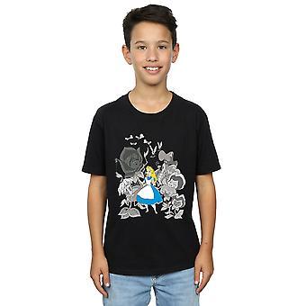Disney gutter Alice In Wonderland blomster t-skjorte