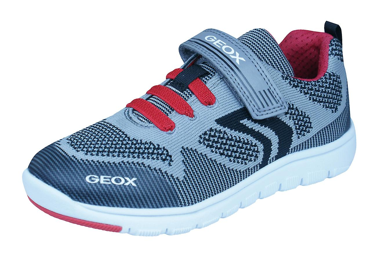 Geox J Xunday B J Boys Trainers and / Shoes - Grey and Trainers Red c5907a