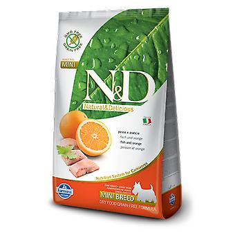 Farmina N&D Grain Free Adult Mini Fisch und Orange (Hunde , Hundefutter , Trockenfutter)