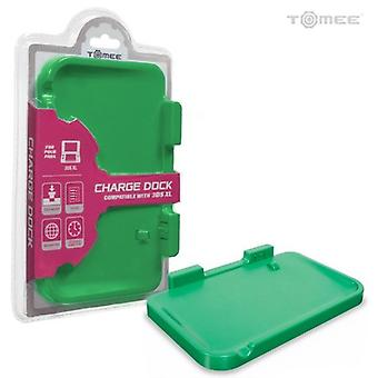 Nintendo 3DS XL Battery Charging Dock Cradle Base - Green by Tomee