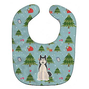 Carolines Treasures  BB4685BIB Christmas West Siberian Laika Spitz Baby Bib
