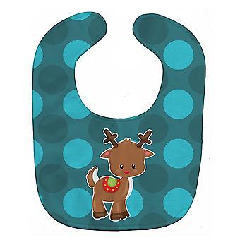 Carolines Schätze BB9024BIB Weihnachten Rentier Baby Lätzchen