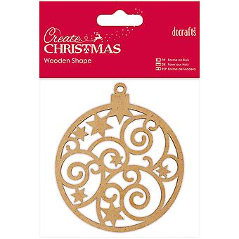 Papermania Create Christmas Wooden Shape-Bauble PM174915