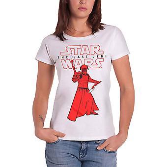 Star Wars T Shirt The Last Jedi Praetorian Guard Official Womens Skinny Fit