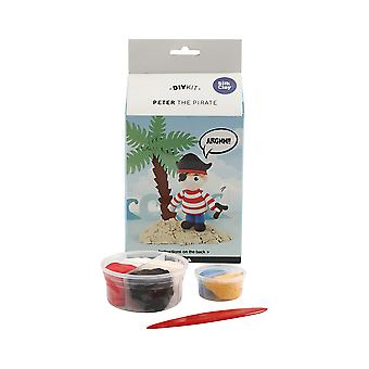 Peter the Pirate Silk Clay Modelling Craft Kit - Gifts For Kids