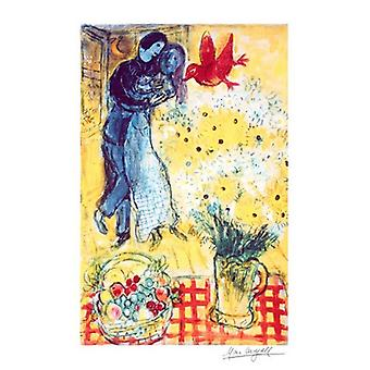 Lovers And Daisies Poster Print by Marc Chagall (18 x 24)