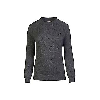 Ladies - Crew Neck Jumper - Grey Marl