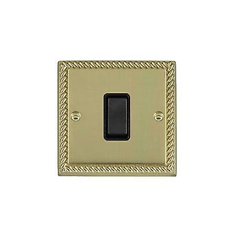 Hamilton Litestat Cheriton Georgian Polished Brass 1g 10AX 2 Way Rkr BL/BL