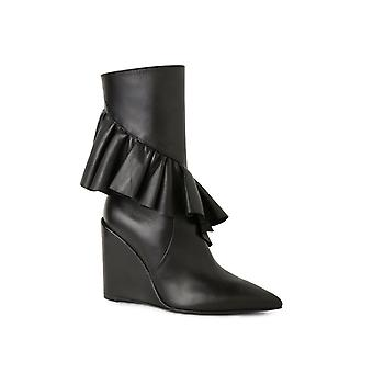 J.W.. Anderson women's JWAFW03C black leather ankle boots