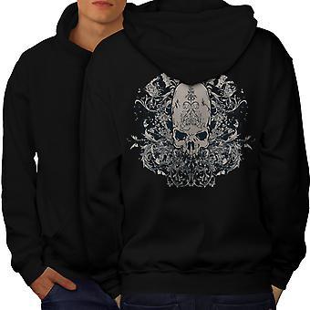 Freak dood Art schedel mannen BlackHoodie rug | Wellcoda