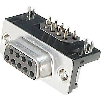 D-SUB receptacles 90 ° Number of pins: 9 Soldering ASSMANN WSW