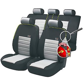 Sport Speed car seat cover-Black&Grey For Mitsubishi LANCER Saloon 1988-1992