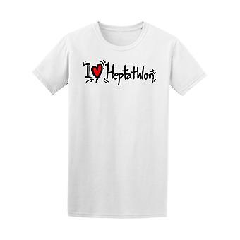 I Love Heptathlon Tee Men's -Image by Shutterstock