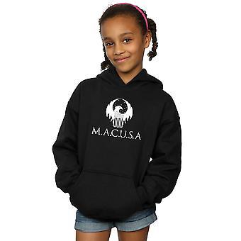 Phantastische Tierwesen Mädchen MACUSA Logo Hoodie