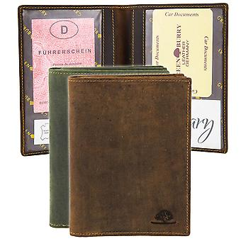 Greenburry vintage leather ID card solution hunting license case 328