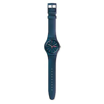 Swatch Suon708 New Gentlemen Turquoise Silicone Watch