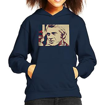 Steve McQueen London 1969 Poster Style Kid's Hooded Sweatshirt