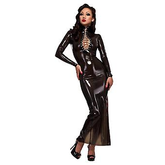 Westward Bound Femme Fatale Hobble Latex Rubber Dress.