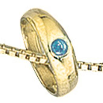 Young children ☆ ring 333 Gold Yellow Gold 1 blue Sapphire baptism trailer jacks