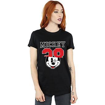 Disney Women's Mickey Mouse Split 28 Boyfriend Fit T-Shirt