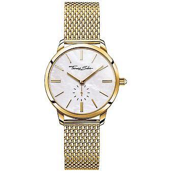Thomas Sabo Womens esprit Glam doré maille Bracelet cadran blanc WA0302-264-213-33