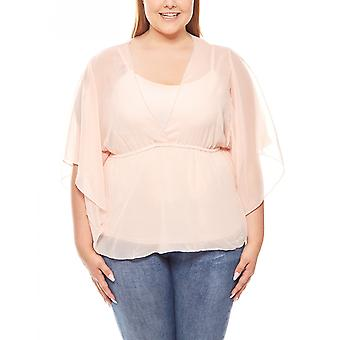 Blouse top 2 in 1 set plus size pink vivance collection