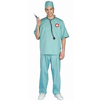 Surgeon Scrubs Surgical Doctor Hospital Medical Role Play Dress Up Mens Costume