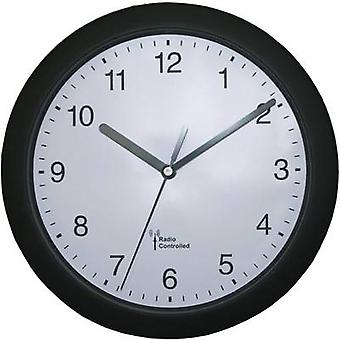 56785 Radio Wall clock 25 cm x 3.8 cm Black