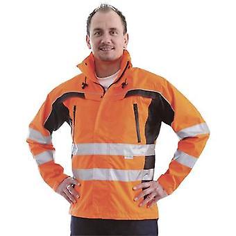 L + D ELDEE 40899 Warnung Jacke Tambora fluoreszierend Orange/schwarz Größe = XXXL EN ISO 20471:2013, Klasse 3 EN 343:2003 + A1:2007, Klasse 2/2