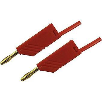 SKS Hirschmann MLN 50/2,5 RT Test lead [Banana jack 4 mm - Banana jack 4 mm] 0.5 m Red