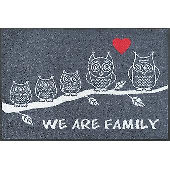 stuoia del pavimento Wash + tappetini asciutto siamo famiglia 50 x 75 cm lavabile