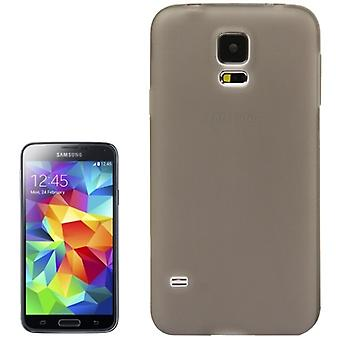 Housse Etui TPU pour Samsung Galaxy S5 / S5 neo gris transparent