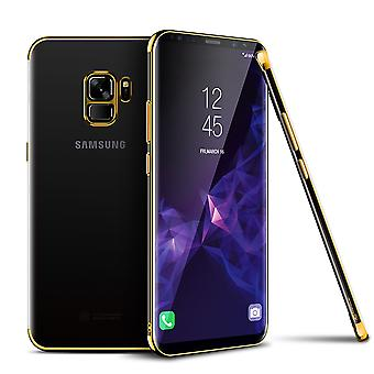 Cell phone cover case for Samsung Galaxy S9 transparent transparent gold
